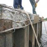 handmatige betonreparatie');